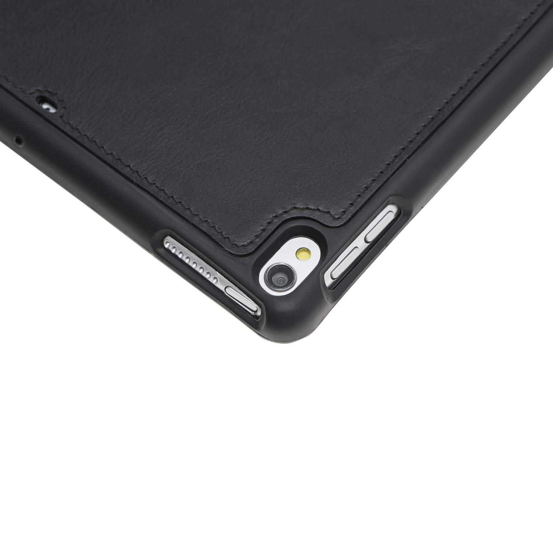 "Solo Pelle magnetische abnehmbare Lederhülle Harvard geeignet für Apple iPad Air 3 2019 & iPad Pro 10.5"" Hülle Cover Cognac-Braun aus echtem Leder mit Stifthalter. Dünnes Echtleder Smart Case Schutzhülle Tasche (Schwarz)"