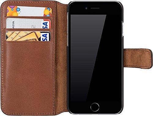 """iPhone 6 Plus / 6S Plus Hülle - """"Wallet"""" - Marrone Braun aus Leder"""