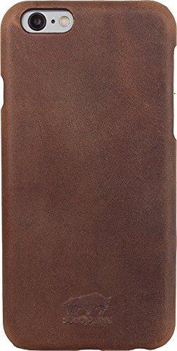 "iPhone 6 Plus / 6S Plus - ""Yale"" Leder Hülle Tasche Lederhülle Ledertasche Backcover - Vintage Braun aus Leder"
