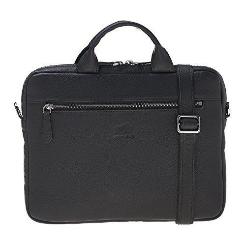 "Businesstasche ""Aegean"" in genarbtem Leder in genarbtem Leder Schwarz"