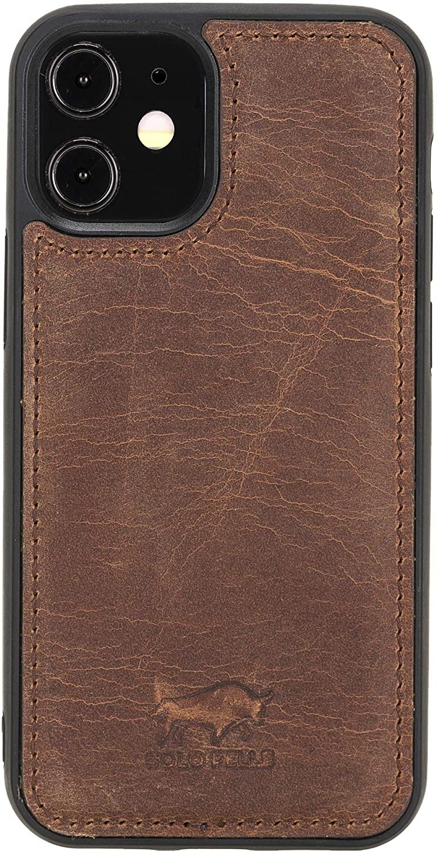 """iPhone 12 Mini Lederhülle """"Stanford"""" MagSafe kompatibel (Vintage Braun)"""