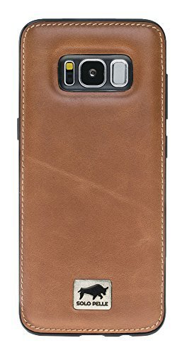 "Samsung Galaxy S8 Plus ""STANFORD"" in Cognac Braun"