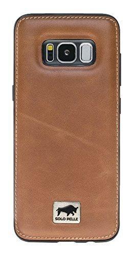 """Samsung Galaxy S8 Plus """"STANFORD"""" in Cognac Braun"""