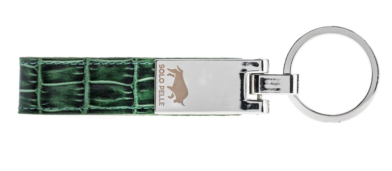 Schlüsselanhänger in Krokoprägung Grün