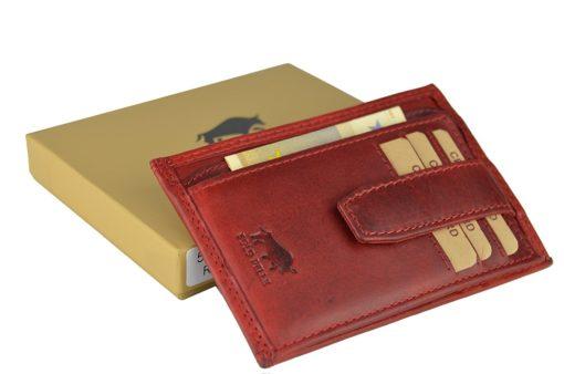 """Geldbörse """"5086"""" in Vintage Rot mit Kleingeldfach"""