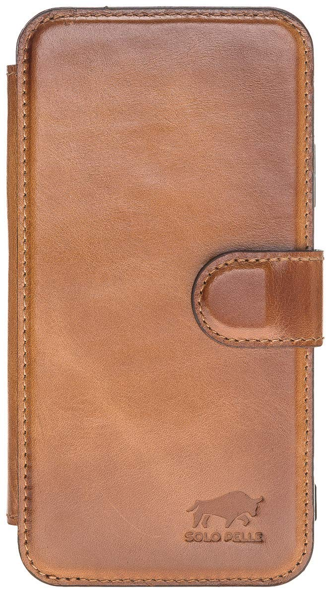 iPhone XS Max Walletcase in Cognac Braun Burned