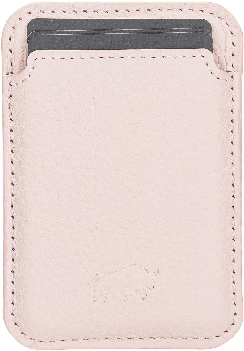Magnetische Geldbörse (Magsafe) Für verschiedene Lederhüllen von Solo Pelle kompatibel kompatibe  (Nude Rosa)