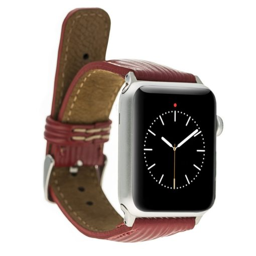 Apple Watch Lederarmband 42mm / 44 mm in Epi Rot