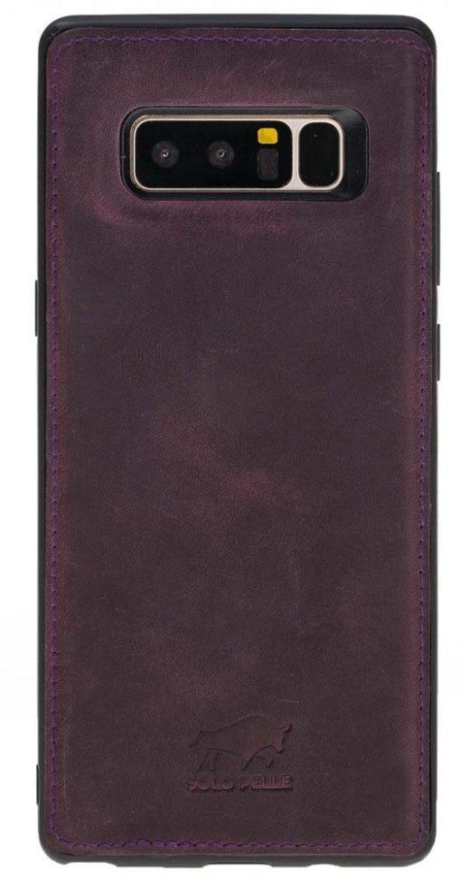 """Samsung Note 8 Leder Hülle """" Flex """" aus echtem Leder in Vintage Lila"""