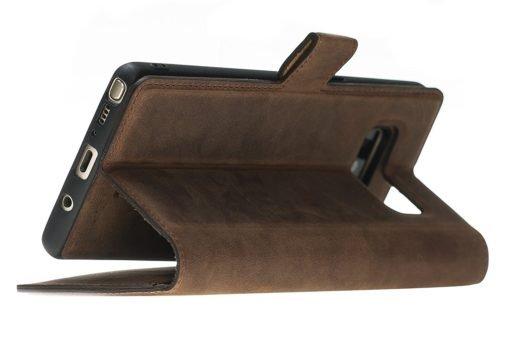 Samsung Note 8 abnehmbare Lederhülle (2in1) Leder Hülle Tasche Lederhülle Ledertasche Backcover in Vintage Braun