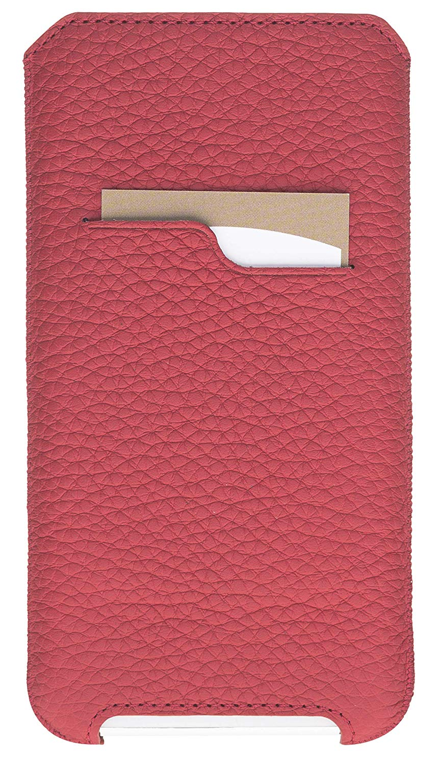iPhone 11 & XR Hülle I Lederhülle I Ledertasche I Sleeve aus echtem Leder in Floater Rot