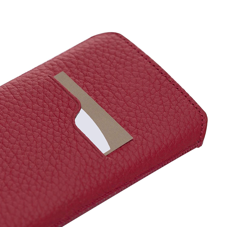 Solo Pelle iPhone XR Hülle I Lederhülle I Ledertasche I Sleeve aus echtem Leder in Floater Rot