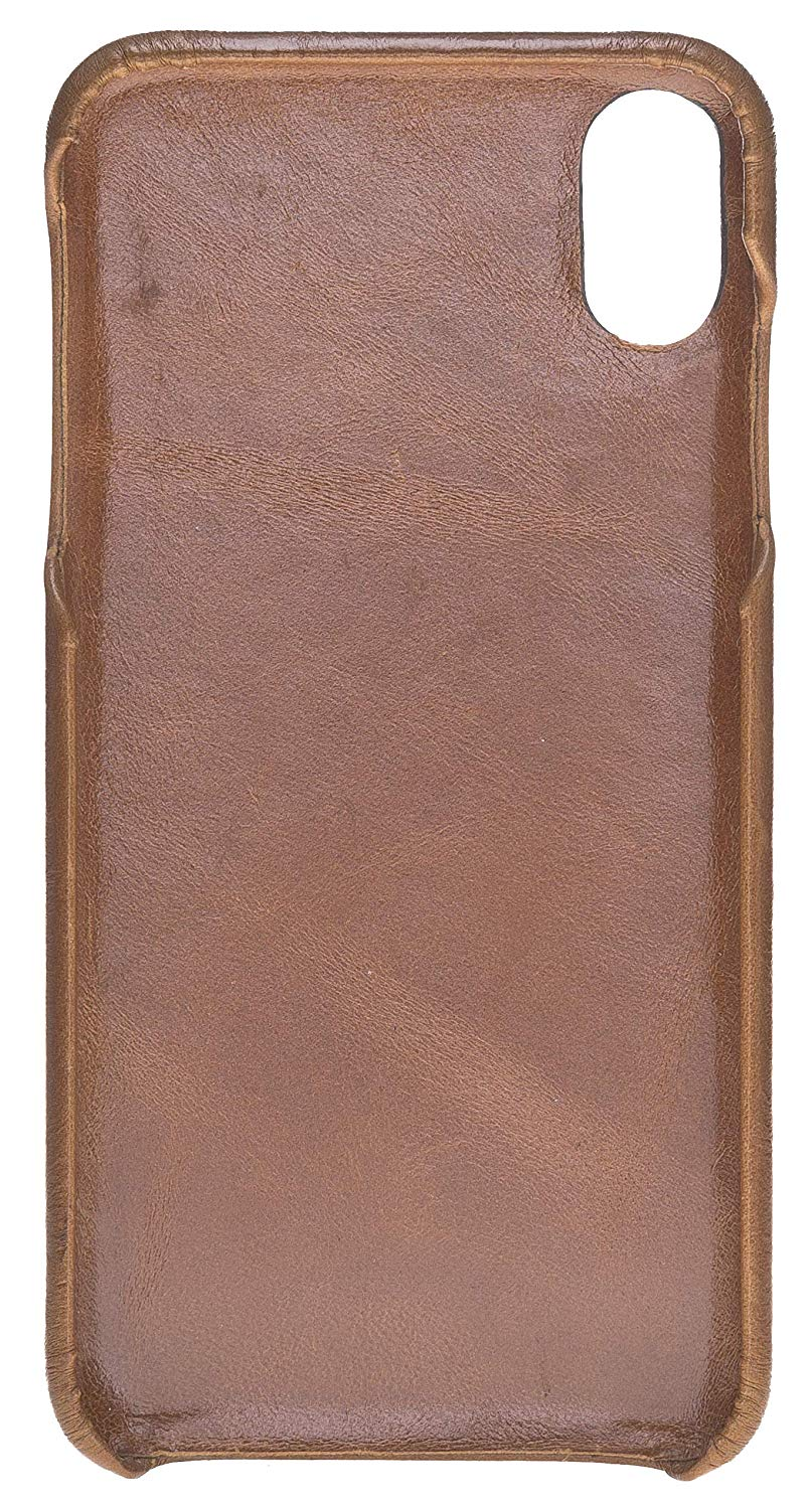 iPhone XS Max - F360 Fullcover - in Cognac Braun Burned