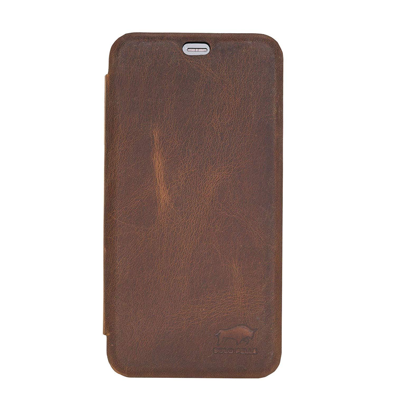 Solo Pelle kompatibel für iPhone XS Max 6.5 Zoll abnehmbare Lederhülle (2in1) inkl. Kartenfächer für das original Apple iPhone XS Max (F360 Elite Vintage Braun)