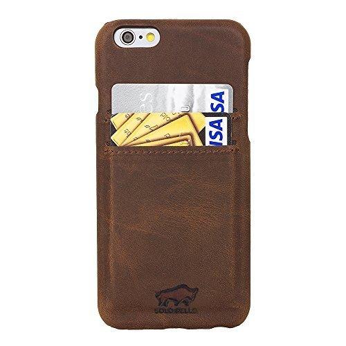 """iPhone 6 Plus / 6S Plus Hülle - """"Slimfit"""" - Vintage Braun aus Leder"""