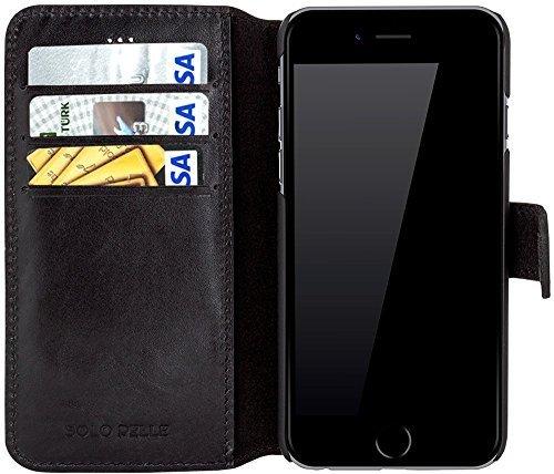 """iPhone 6 Plus / 6S Plus Hülle - """"Wallet"""" - Schwarz aus Leder"""