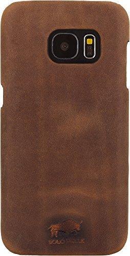 """Samsung S7 """"Yale"""" Leder Hülle Tasche Lederhülle Ledertasche Backcover in Vintage Braun"""