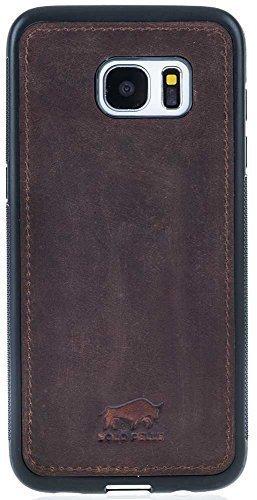 """Samsung S7 Edge """"STANFORD"""" Leder Hülle Tasche Lederhülle Ledertasche Backcover in Vintage Braun"""