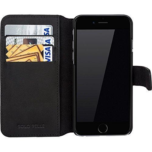 """iPhone 6 Plus / 6S Plus Hülle - """"Wallet"""" - Vintage Schwarz aus Leder"""