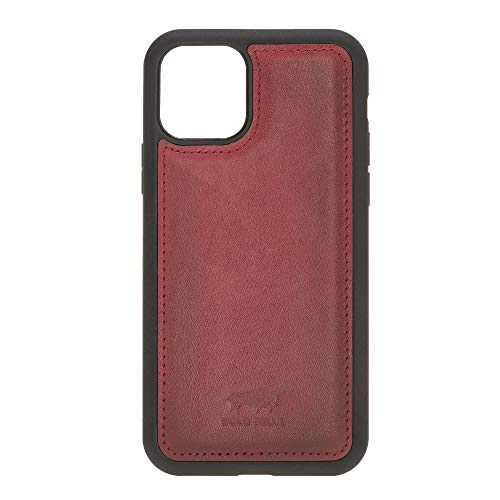 Solo Pelle Lederhülle für das iPhone 11 Pro in 5.8 Zoll Stanford Case Leder Hülle Ledertasche Backcover aus echtem Leder (Rot Burned)