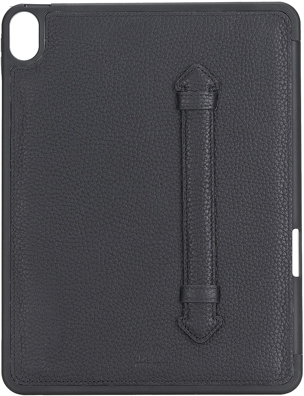 Solo Pelle Hülle geeignet für Apple iPad Air 5 in 10.9 (4 + 5 Generation) Echtleder Case aus echtem Leder. Unterstützt Pencil inkl. Ledergriff (Matt Schwarz)