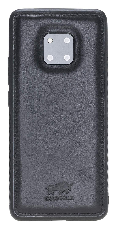 Lederhülle für das Huawei Mate 20 Pro aus echtem Leder in Schwarz