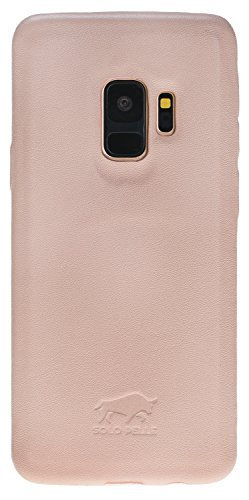 Samsung Galaxy S9 Lederhülle Ultra Cover aus in Nude Rosa