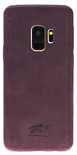 Samsung Galaxy S9 Lederhülle Ultra Cover aus in Vintage Lila