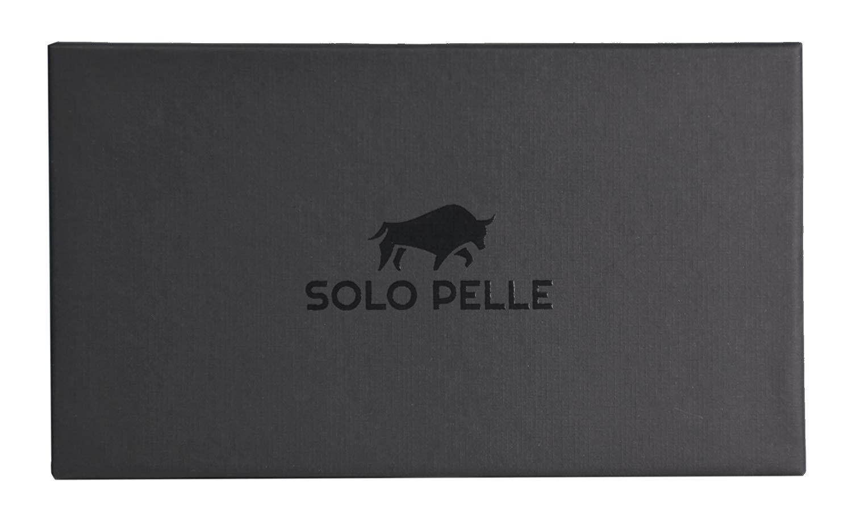 Solo Pelle Lederhülle für das Samsung Galaxy S10 5G Hülle, Schutzhülle aus echtem Leder, Model: Stanford (Schwarz)