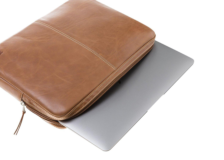 Sleeve MacBook / Air 11 - 12 Zoll in Cognac Braun