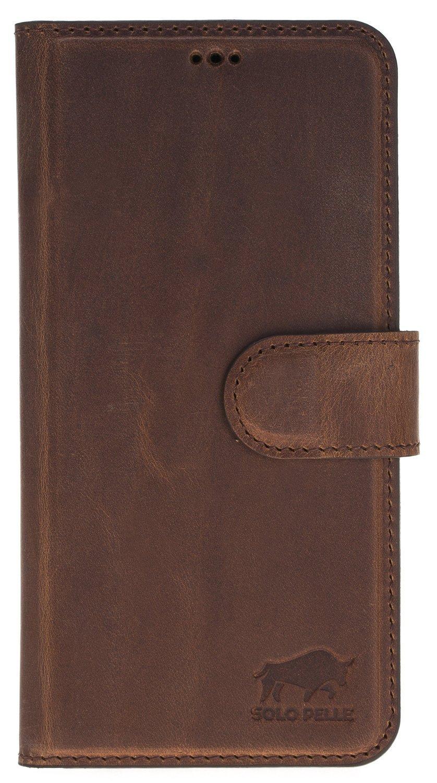 Samsung Galaxy S9 Plus abnehmbare Lederhülle inkl. Kartenfächer in Vintage Braun