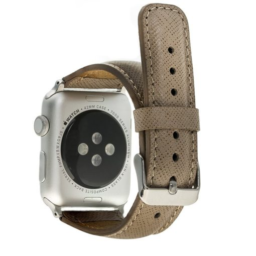 Apple Watch Lederarmband 38mm / 40 mm  in Saffiano Taupe