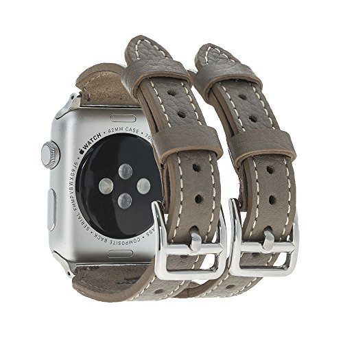 """Apple Watch Lederarmband """"Double Buckle"""" in 38mm / 40 mm  Taupe"""