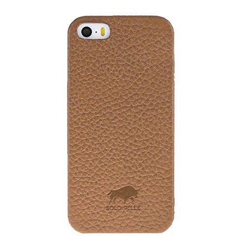 "iPhone SE / 5 / 5S Hülle - ""Fullcover"" - Braun aus Leder"