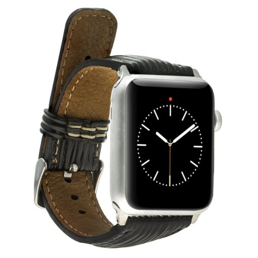Apple Watch Lederarmband 38mm / 40 mm in Epi Schwarz