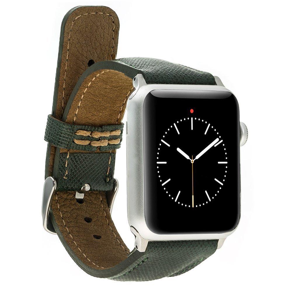 Apple Watch Lederarmband 38mm / 40 mm  in Saffiano Grün