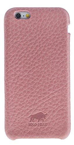 "iPhone 6 Plus / 6S Plus Hülle - ""Fullcover"" - Floater Rosa aus Leder"