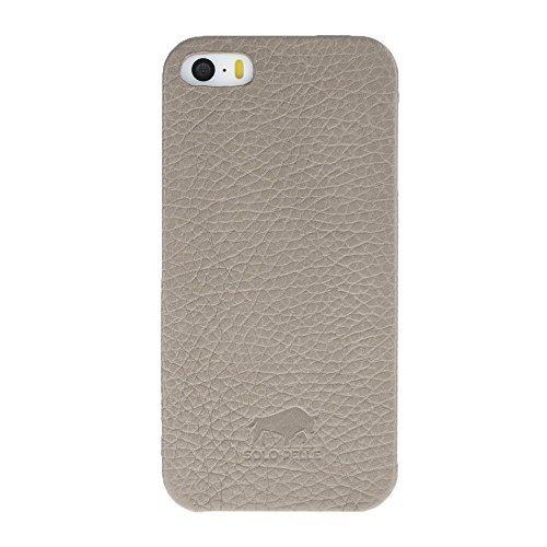 "iPhone SE / 5 / 5S Hülle - ""Fullcover"" - Taupe aus Leder"