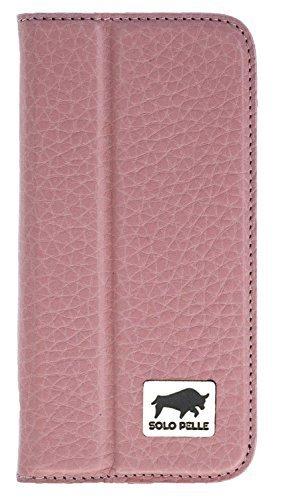 """iPhone SE / 5 / 5S Hülle - """"Wallet"""" - Floater-Rose aus Leder"""