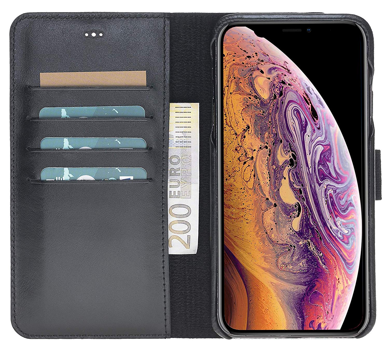 """iPhone XS Max Abnehmbare Lederhülle """"Clemson"""" in Schwarz"""