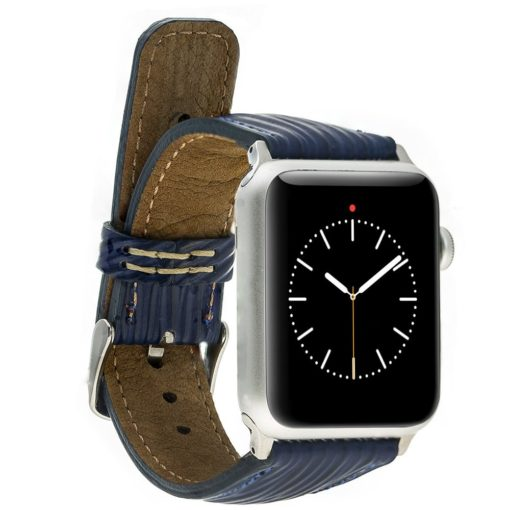 Apple Watch Lederarmband 42mm / 44 mm in Epi Blau
