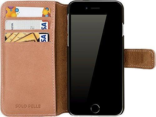 """iPhone 6 Plus / 6S Plus Hülle - """"Wallet"""" - Light Rose aus Leder"""
