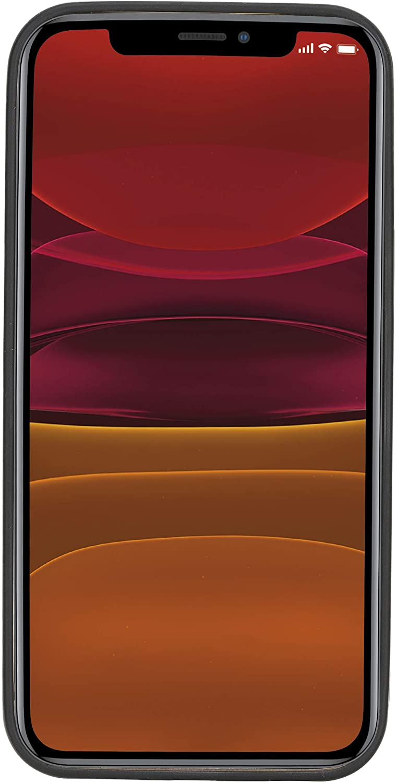"iPhone 12 Pro Max Lederhülle ""Stanford"" MagSafe kompatibel (Steingrau)"