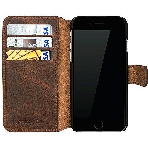 iPhone 6/6S Hülle – Kartenfächer – Vintage Braun aus Leder