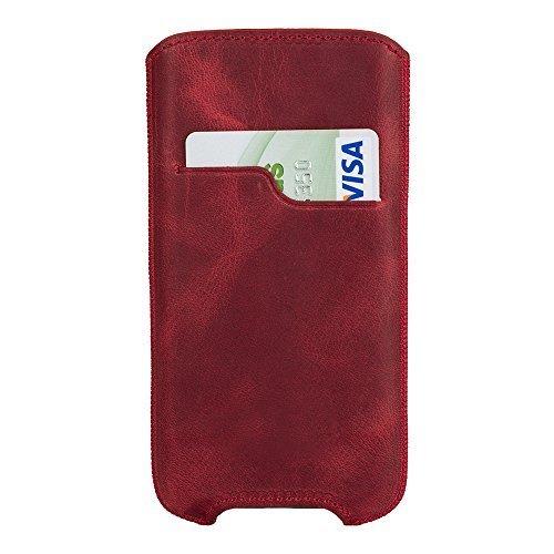 """iPhone 8 / 7 / 6 / 6S Hülle - """"Ohio"""" - Vintage Rot aus Leder"""