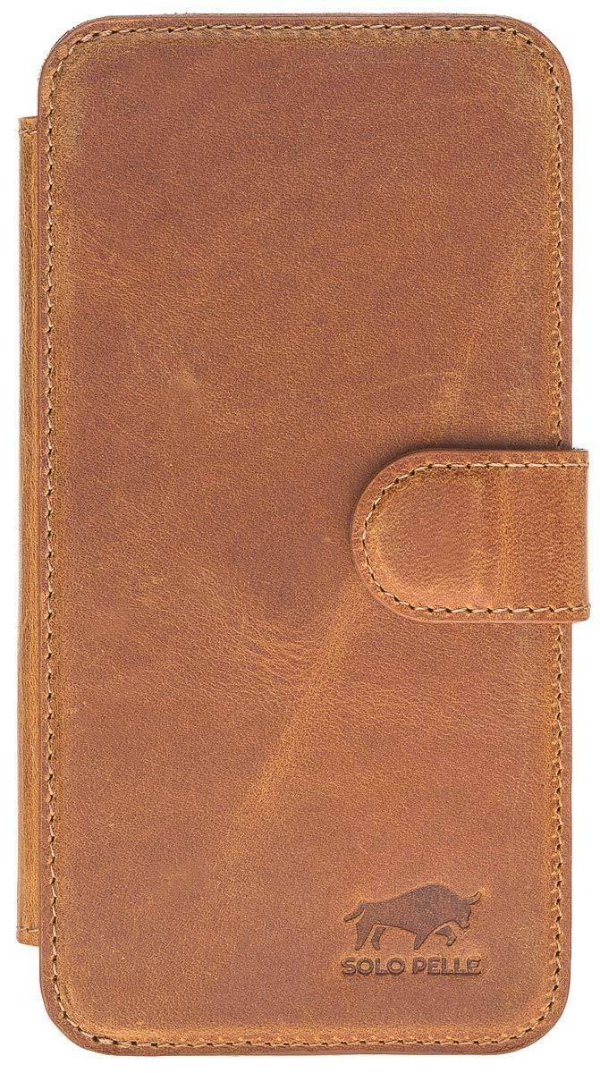 iPhone XR Walletcase in Camel Braun