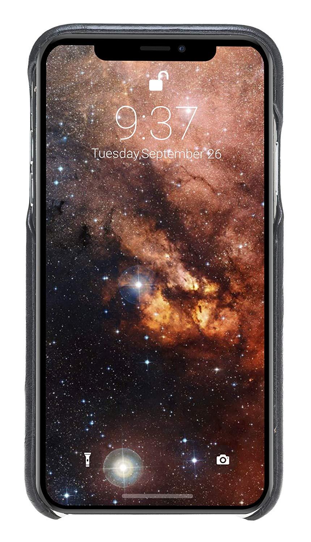 iPhone XR Lederhülle - F360 Fullcover - in Schwarz