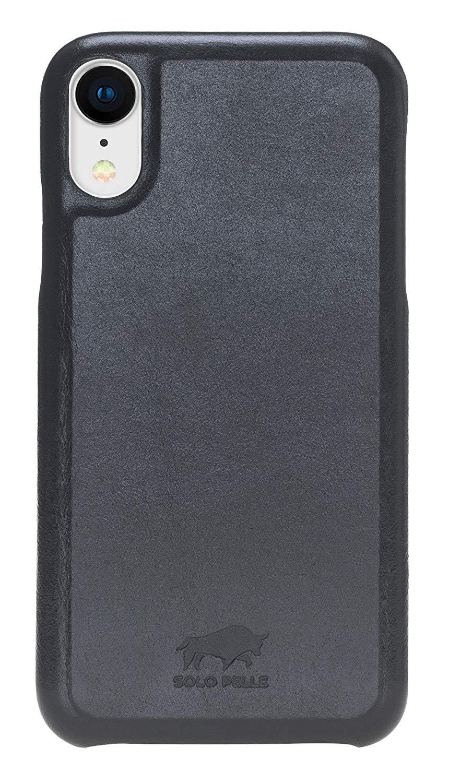 """iPhone XR Lederhülle - """"Princeton"""" - in Schwarz"""