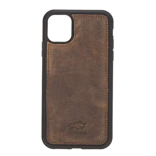Solo Pelle Lederhülle für das iPhone 11 (XI) 6.1 Zoll Stanford Case Leder Hülle Ledertasche Backcover aus echtem Leder (Vintage Braun)