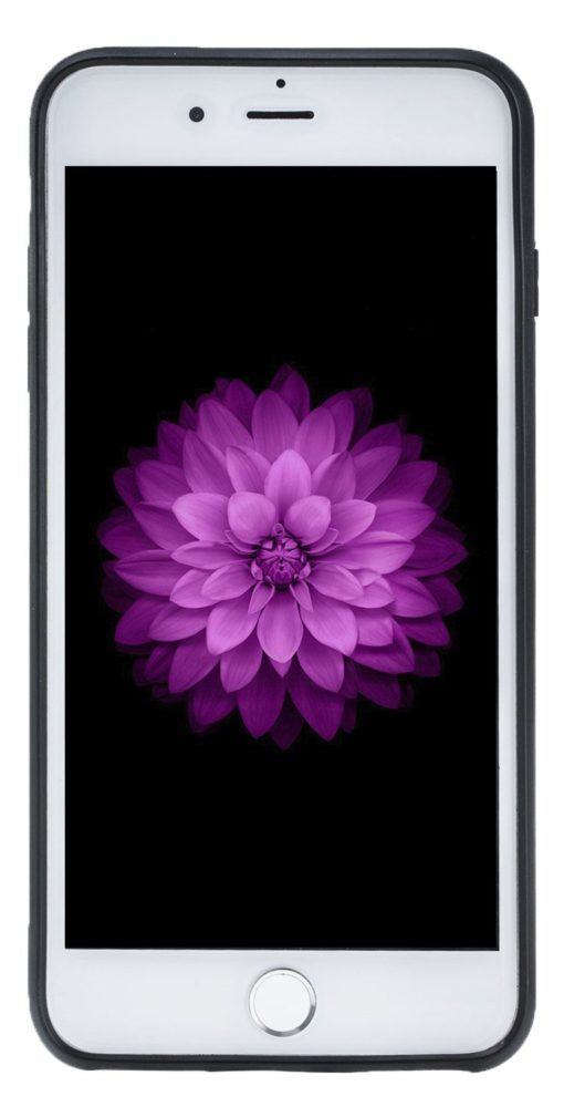 "iPhone 7 Plus / 8 Plus Hülle - ""STANFORD"" - Camouflage Grau aus Leder"
